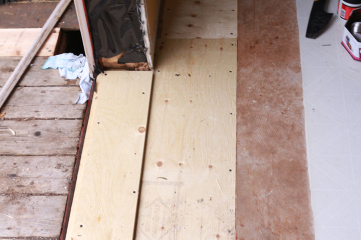 Subfloor installed -ready for Blueskin