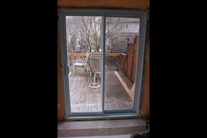 Patio door installed - ready for door casing