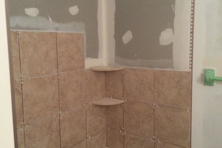Tiling: Denshield on back